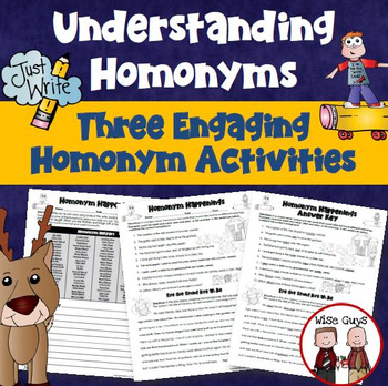 Homonyms Fun Writing Activity