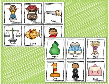 Homonyms & Homophones Flash Cards