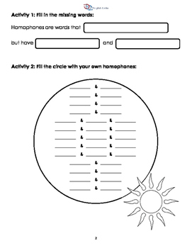 Homonyms, Homophones and Homographs Workbook