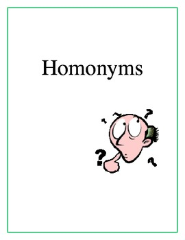 Homonyms Lesson Plan