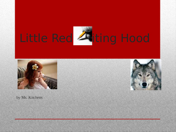 Homonyms: Little Red Writing Hood (Fractured Fairy Tale)