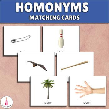 Homonyms Matching Activity