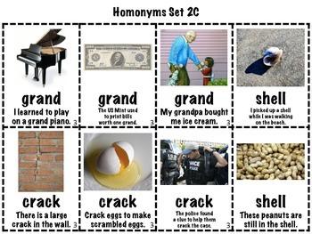 Homonyms Matching Games BUNDLE (Homophones/Homographs/Multiple Meaning Words)