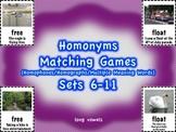 Homonyms Matching Games Sets 6-11 Long Vowels (Homophones/Homographs)