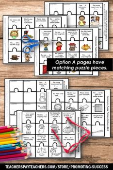 Homonyms Games, Language Arts Interactive Notebook Worksheets BUNDLE