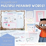 Homonyms | Multiple Meaning Words Acitvities