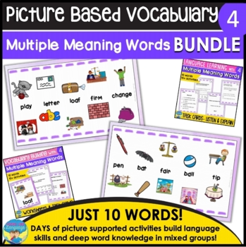 Homonyms: Multiple Meanings D-  Differentiated Instruction Bundle