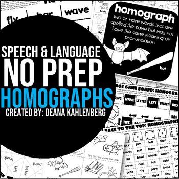 Homonyms {No Prep Practice}