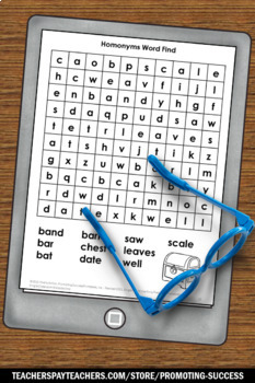 Homonyms Worksheets, ESL Activities, Speech Therapy Vocabulary