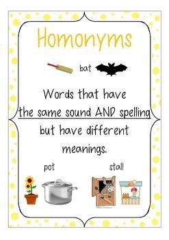 Homonyms Poster