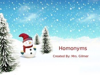 Homonyms PowerPoint