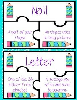 Homonyms Puzzle
