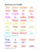 Homonyms:  Sentence Jumble
