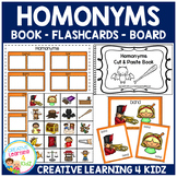 Homonyms Matching Board - Flashcards - Book