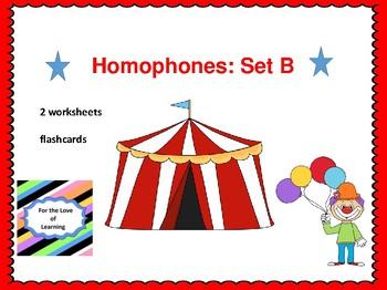 Homophones Set B