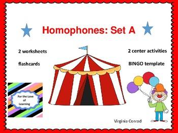 Homophones Set A