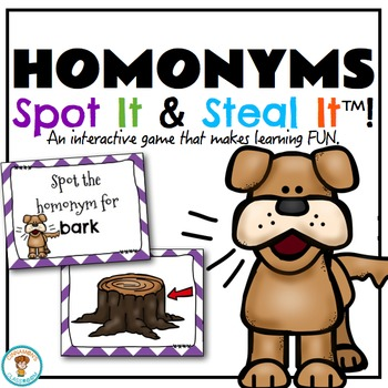 Homonyms Spot It & Steal It Game