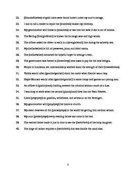 Homonyms Test II