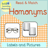 Homonyms Word Study with Pictures