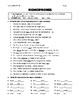 Homonyms - Worksheet & Answer Key