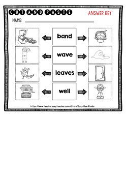 Homonyms Worksheets | Cut and Paste
