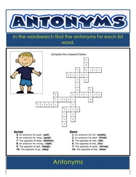 Homonyms and Antonyms - 28 Pages