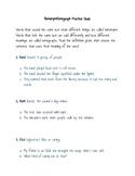 Homonyms and Homograph Practice Quiz