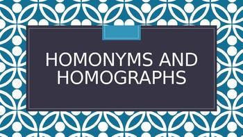 Homonyms and Homographs