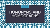 Homonyms and Homographs