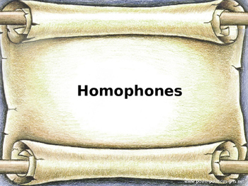 Homonyms and Homophones