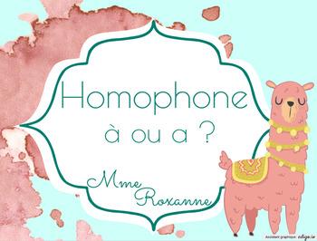 Homophone À ou A ?