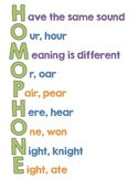 """""""Homophone"""" Acrostic Poster"""
