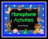 Homophones Activities Pack
