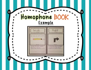 Homophone Activities