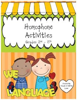 Homophone Activities, Handouts and Games