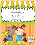 Homophone Activities, Handouts and Games