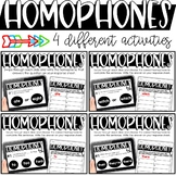 Homophone Activities - Printable or Digital for the Google