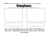 Homophone Activities