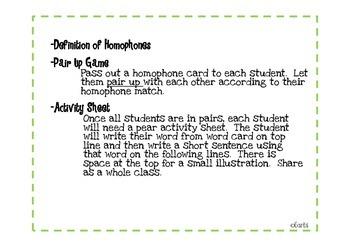 Homophone Activity