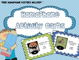 Homophone Activity Cards - 5 COMPLETE SETS!