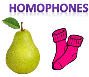 Homophone Activity & Mini Lesson