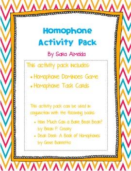 Homophone Activity Pack
