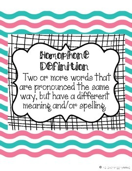 Homophone Activity Packet