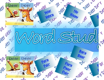 Homophone Banner Sign Chart Poster Word Study Spelling Vocabulary