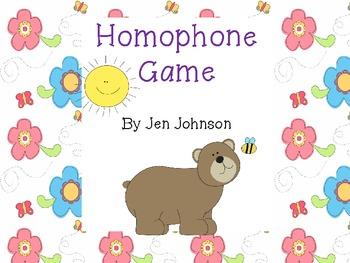 Homophone Bear Game