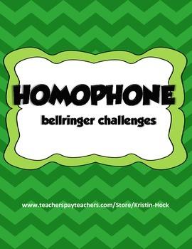 Homophone Bellringer Challenge
