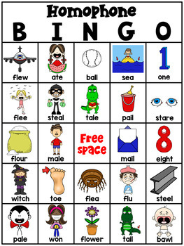 Homophone Bingo Game (25 different cards!)