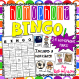 Homophone Bingo Game (and worksheet!)  20 different cards!