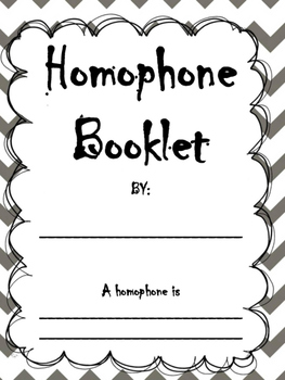 Homophone Booklet