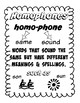 Homophone Bundle (71 most commonly used homophones)